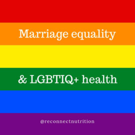 Marriage equality and LGBTIQ+ health